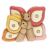 THUN - Soprammobile Coppia Farfalle Mamma e Figlia - Accessori e Decorazioni Casa - Linea Farfalle in Festa - Formato Medio - Ceramica - 13,4 x 10,5 x 10 h cm