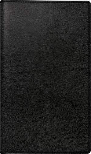 rido/idé 704688490 Taschenkalender/Plankalender M-Planer (2 Seiten = 1 Monat, 87 x 153 mm, Kunstleder-Einband Prestige, Kalendarium 2020) schwarz