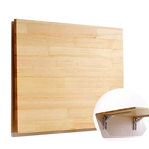 Inklapbare wandtafel van massief hout, laptophouder, bureau, tafel, scheidingswand, plank, bespaart ruimte.