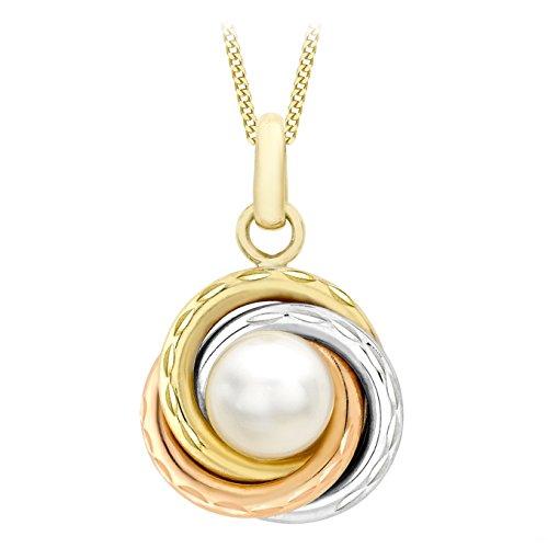 Carissima Gold Collar para mujer con oro tricolor de 9 K (375/1000)