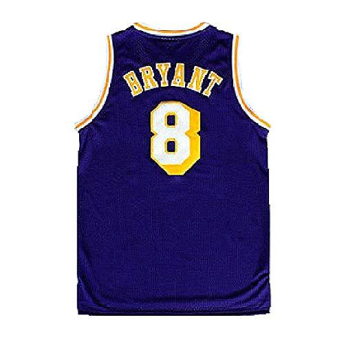 Mens Kobe Jersey Los Angeles 8 Basketball Bryant Purple (S-XXL) (XL)