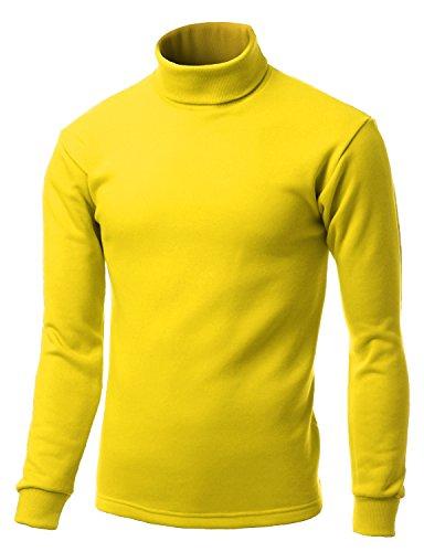 Xpril Double Long Sleeve Layer Turtleneck T-Shirt Yellow XS