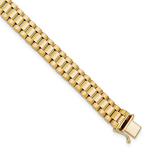 14k Yellow Gold Mens 8 Inch Link Bracelet H Man Men Fine Jewelry For Dad Mens Gifts For Him