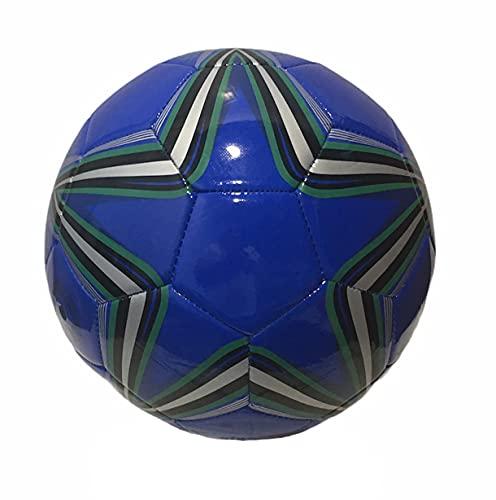 Fußball aus Leder, Größe 5, PU-Kunstleder, Größe 5 (BLU2)