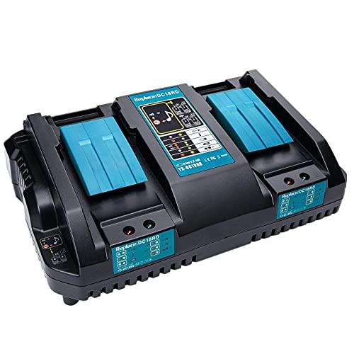 Cargador rápido Canjerusof DC18RD, herramienta eléctrica de repuesto, cargador de iones de litio 4A 7,2 V-18 V para batería de herramientas Makita DC18RA DC18RC