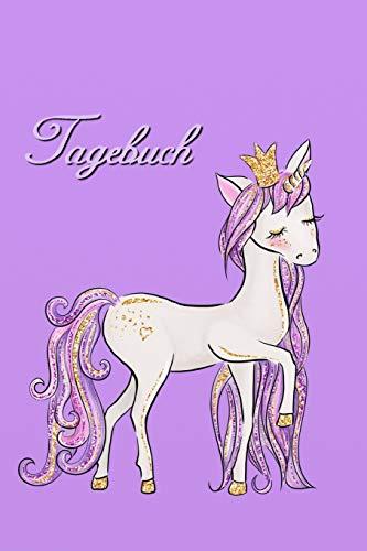Tagebuch: Mädchen Pferde Einhorn Tagebuch - Bullet Diary Journal - Einschreibbuch - Notizbuch - Girl Horse Unicorn diary