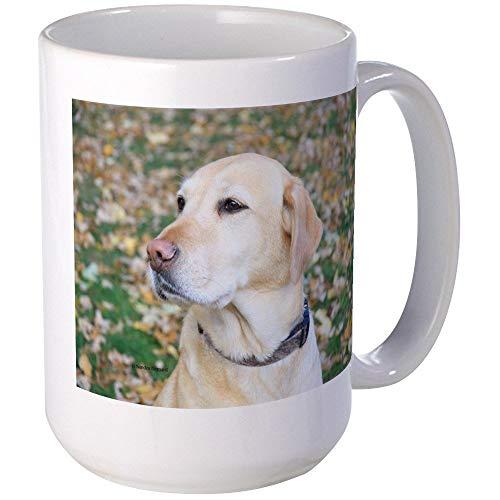 N\A Yellow Lab # 2 - Taza de café Grande con Retrato, Taza Grande de café con Leche de 11 oz