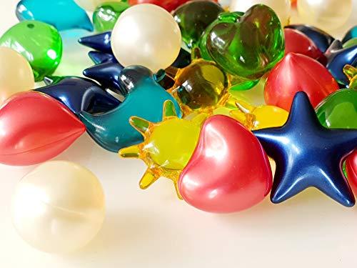 Badeperlen Badezusätze viele Formen und Farben Geschenk Deko Badeöl 12 Stück (Mix)
