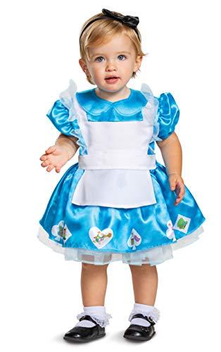 Disguise Disfraz infantil de Alicia en el pas de las maravillas, azul y blanco, 6  12 meses