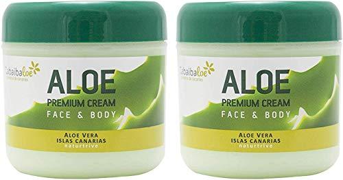 TABAIBA, aloe vera körper creme aloe vera creme Tabaibaloe Premium Gesicht und Körper Creme x 2 Einheiten, 600 milliliter