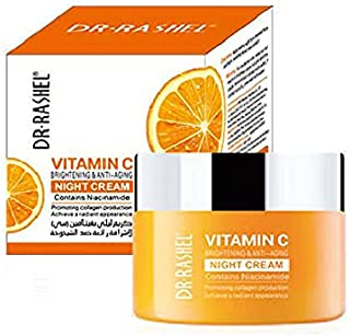 Dr. Rashel Vitamin C Brightening & Anti-Aging Night Cream, White - 50g