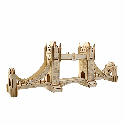 SGPL 3D Jigsaw Londen Tower Bridge Houtwerk Assembly Handwerk Home Decor DIY Model Puzzel IQ Challenger