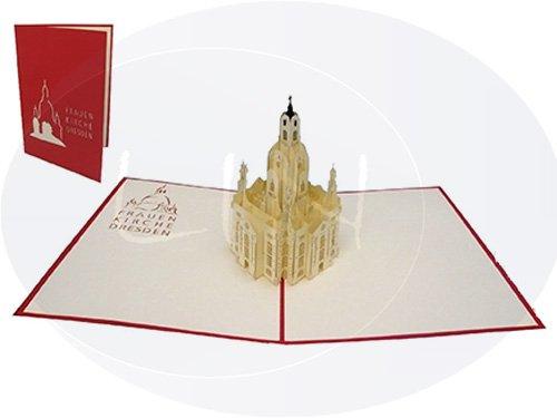 3D POP UP Karte Architektur Dresden Frauenkirche(#176)