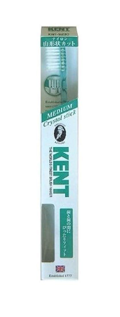 平日スピーカー昼寝KENT(ケント) クリスタルスティック ナイロン歯ブラシ ふつう KNT9230 エメラルドグリーン