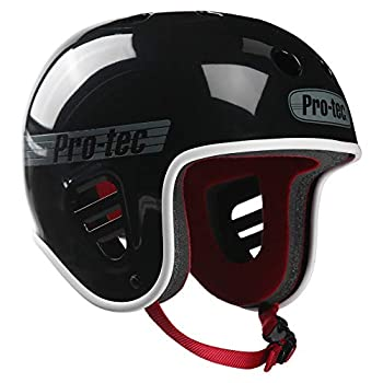 Pro-Tec Full Cut Skate Helmet Gloss Black Small