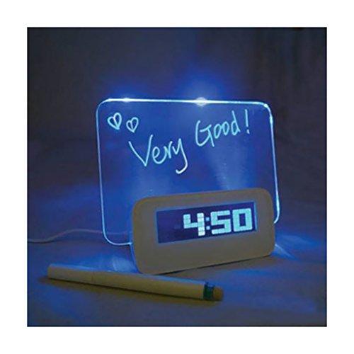 FaceFake - Despertador digital electrónico luminoso fluorescente con función de alarma, reloj...