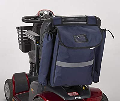 Mobility Scooter Crutch/Walking Stick Bag Blue