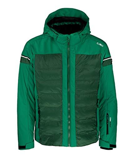 CMP M Jacket Zip Hood Twill Grün, Herren Daunen Isolationsjacke, Größe 52 - Farbe Emerald