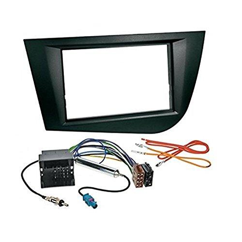 sound-way Cadre de Radio Seat Leon 2005 autoradio 2 DIN Adaptateur antenne et cablage ISO