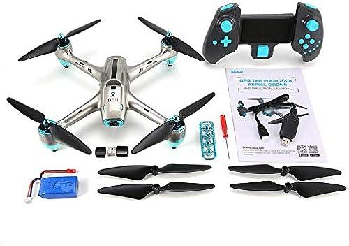 Yaoaoden 6957G 2.4G GPS, das 720P HD-Weißwinkelkamera FPV-RC-Drohne-Quadcopter-Echtzeit-Follow-Me-One-Key-Return-360 ° -Flips positioniert