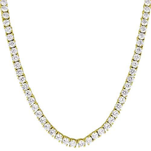 N/ Collar Tenis Diamantes Hip Hop (Trap) (Dorado)
