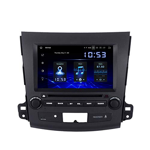 Dasaita 8' 1 Din Android 10.0 Autoradio Stereo Auto con Bluetooth per Mitsubishi Outlander 2007 to 2011 Auto con Schermo Supporto Wifi Carplay DSP WIFI