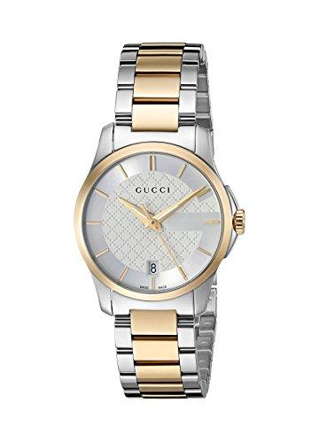 Gucci Swiss Quarz Edelstahl Kleid Bicolor Damen-Armbanduhr (Modell: ya126563)