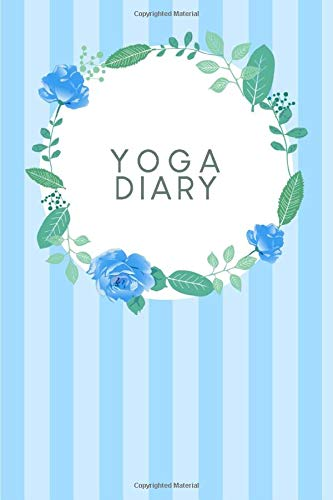 Yoga Diary: Dotted notebook for your asanas and more mindfulness and inner peace | Design: Blue watercolour flowers