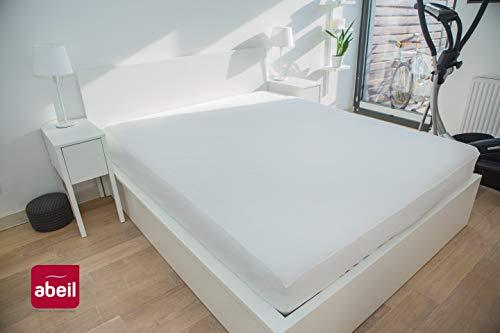 Abeil matrasbeschermer, katoen, wit 90 x 190 cm Wit.