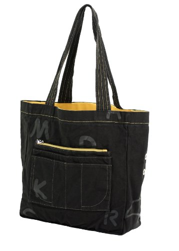 Mandarina Duck Shopping V2T03 Shopper Cotton Tasche Henkeltasche Bag 30x30x12 cm(Schwarz/V2T03651)