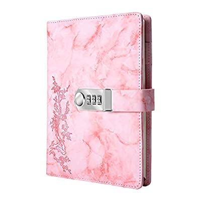 Pink Marble Journal with Combination Lock