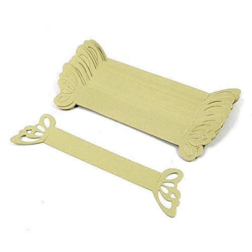 DIYI 50 Stück Papier Serviettenring Serviettenhalter Hochzeit Party Tischdekoration Bankette Dekoration (Gold)