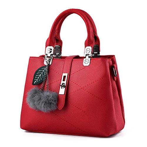 YOUNXSL El Nuevo Bolsos de Mujer Messenger Bag Ladies Shoulder Tote Bolso femenino Para Mujer Shoppers y Bolsos de Hombro Vino Tinto