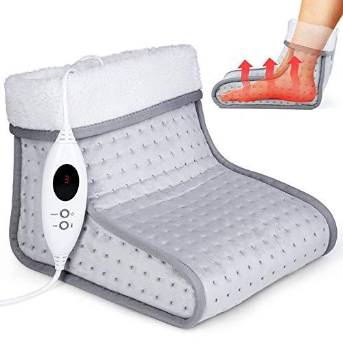 sinnlein Fußwärmer mit 6 Temperaturstufen & Timer | Fußheizung elektrisch | Überhitzungsschutz & Abschaltautomatik