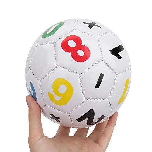 Balón de fútbol, niños Deportes al Aire Libre Fútbol Balón de fútbol Tamaño 2 para niños pequeños Ejercicio Equipo Deportivo(Blanco)