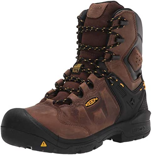 KEEN Utility Men s Dover 8 Composite Toe Insulated Waterproof Work Boot Dark Earth Black 15 product image