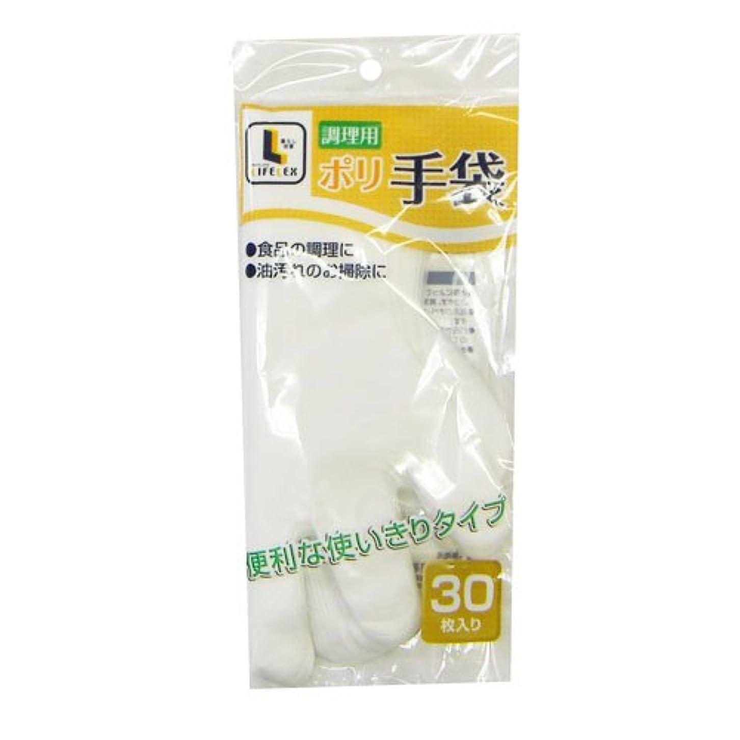 コンベンションブローホールリングコーナンオリジナル 調理用ポリ手袋 30枚入 KHD05-7510