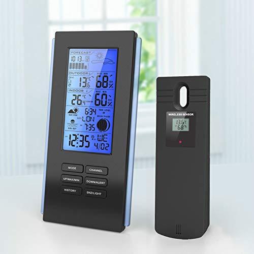 SLMY Hygrometer digitale binnenkamer, monitor met LCD-scherm en gezicht pictogrammen, monitor temperatuur en vochtigheid voor thuiskantoor kinderkamer Comfort