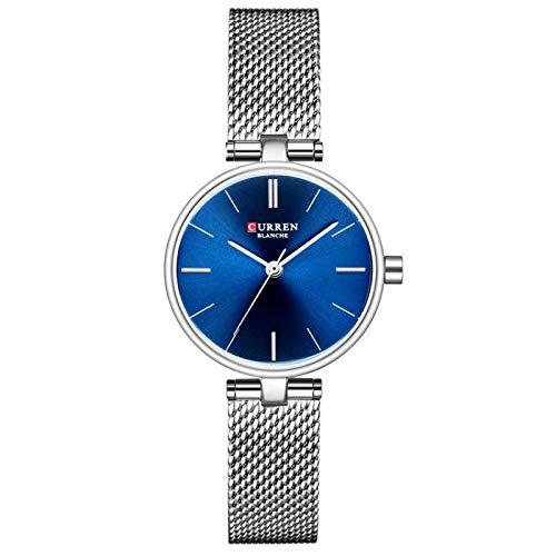 JPDP Reloj de Cuarzo Nuevo para Mujer, de Pulsera, de Malla silverblue