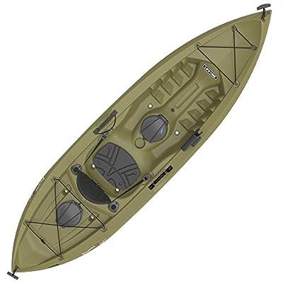 "90539 Lifetime Tamarack Angler Sit-On-Top Kayak, Olive, 120"" by Lifetime OUTDOORS"