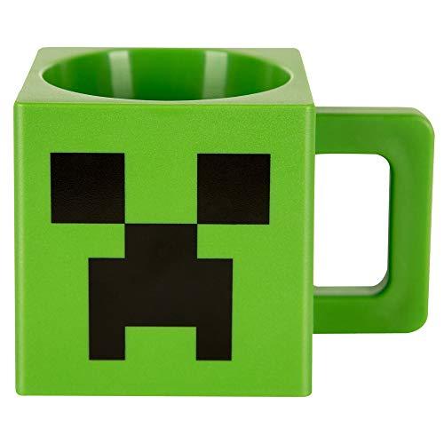 Minecraft Tasse Creeper Face Farbe: grün, Material: Kunststoff.