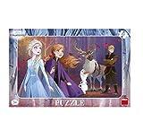 Dinotoys Frozen II Puzzle 15 pz Scrivania Puzzle con Cornice