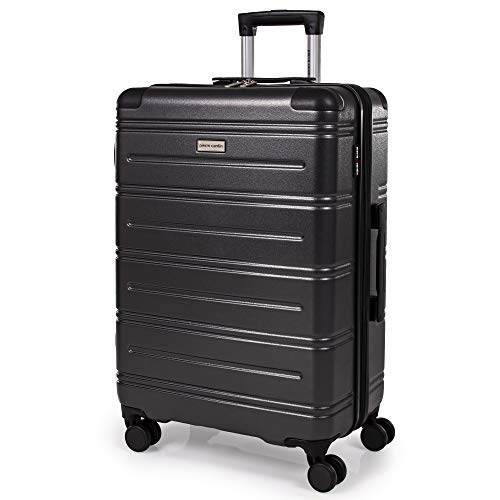 Pierre Cardin ABS Hard Shell 26 Inch Suitcase - Travel Luggage with 8 Spinner Wheels | Telescopic Drag Handle | Hard Sided Suitcases Weighing 3.6kg Cap 62L Height 66.5cm CL889 (Medium)
