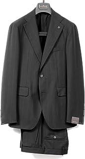 タリアトーレ TAGLIATORE / 【国内正規品】 / 20SS!ウールフレスコバンカーストライプ2Bスーツ「VESVIO」 (ブラック×ブラウン) メンズ