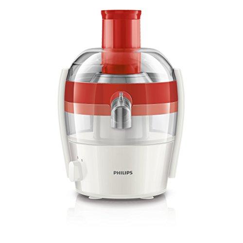 Philips HR1832/40 - Exprimidor eléctrico, 400 W, color rojo y blanco