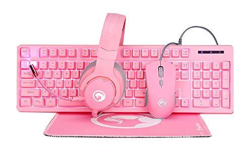 audífonos razer rosa fabricante Marvo