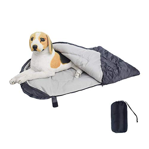 CHEERHUNTING Dog Sleeping Bag Waterproof Travel Large Portable Dog Bed with Storage Bag for Indoor...