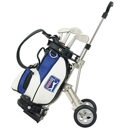 PGA TOUR Gadget Desktop golftas en balpen cadeauset, zilver/wit/blauw