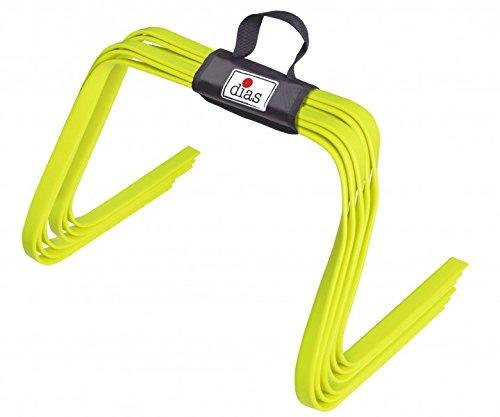 RHINOS sports elastische Koordinationshürden 6er-Set | Flach | 30 cm