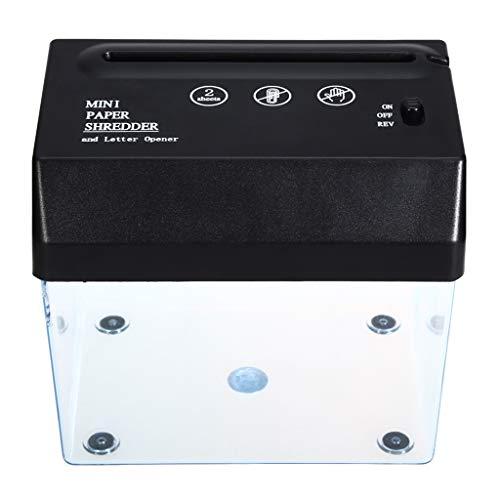Mini-USB-Aktenvernichter Und Brieföffner Mit Streifenschnitt Für Zuhause/Büro